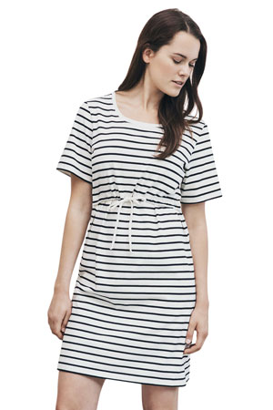 d0813cd111be6 Boob Design Simone Short-Sleeved Organic Maternity & Nursing Dress (Tofu  Black) by