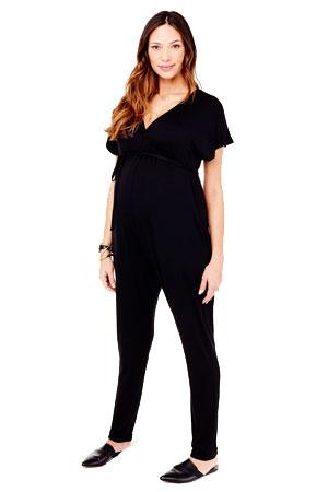 688edeacc55 Ingrid & Isabel Crossover Maternity & Nursing Friendly Jumpsuit (Black) by  Ingrid ...