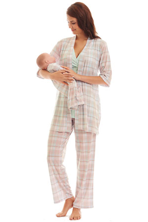 Analise 5-Piece Mom and Baby Maternity and Nursing PJ Set by Everly Grey
