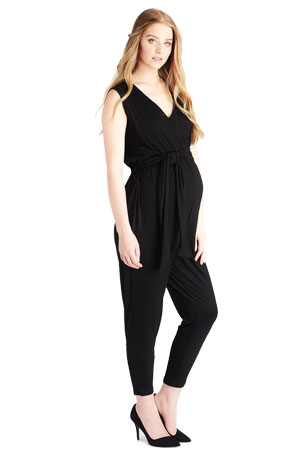 a2015645276d Lily Maternity Jogger Jumpsuit (Black) by Lilac Maternity   More