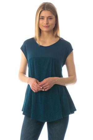 dd45b9867a9 Sabrina Stripes Drop Waist Nursing Friendly Maxi Dress in Royal Blue ...