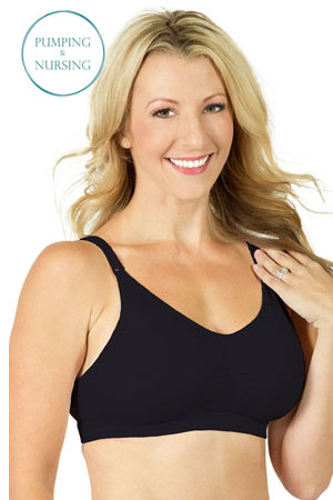 5c25032f94 Rumina Hands-Free Pump Nurse™ Seamless Bra (Black) by Rumina