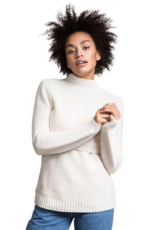 Boob Design Elisa Rib Knitted Organic Cotton Nursing Sweater (Tofu) by Boob  Design 8b966c6cd
