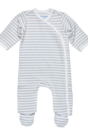 Under the Nile Organic Cotton Printed Side Snap Footie by Under the Nile