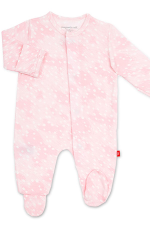 Magnetic Me™ Modal Magnetic Baby Footie (Pink Doeskin) by Magnetic Me by Magnificent Baby