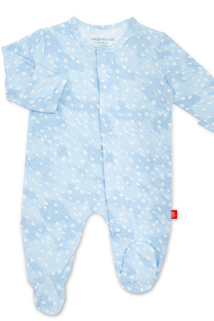 Magnetic Me™ Modal Magnetic Baby Footie (Blue Doeskin) by Magnetic Me by Magnificent Baby