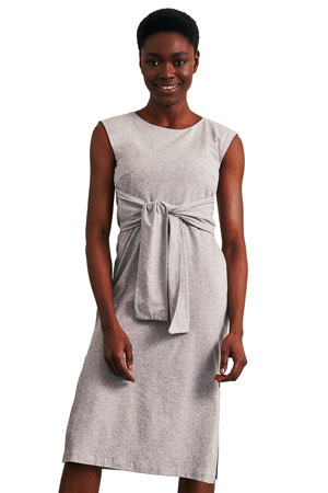 f0a4ec7c84 Haley Sleeveless Organic Maternity   Nursing Dress (Grey Melange) by Boob  Design