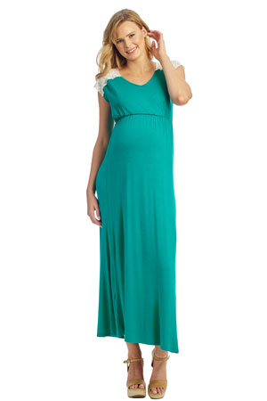 800322df53cc Margaret Maternity   Nursing Dress (Portofino Green) by Everly Grey