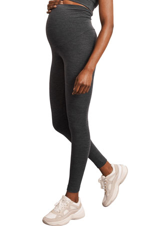 Boob Design Once-On-Never-Off Organic Merino Wool Leggings (Dark Grey Melange) by Boob Design