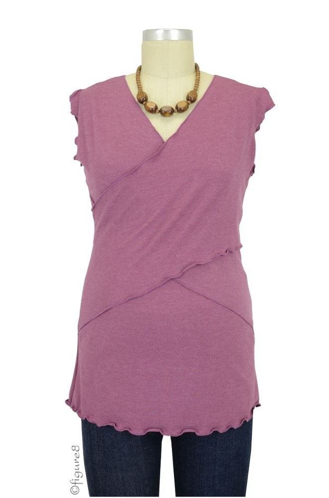 JW Flutter Cross Front Nursing Top (sleeveless) (Berry)