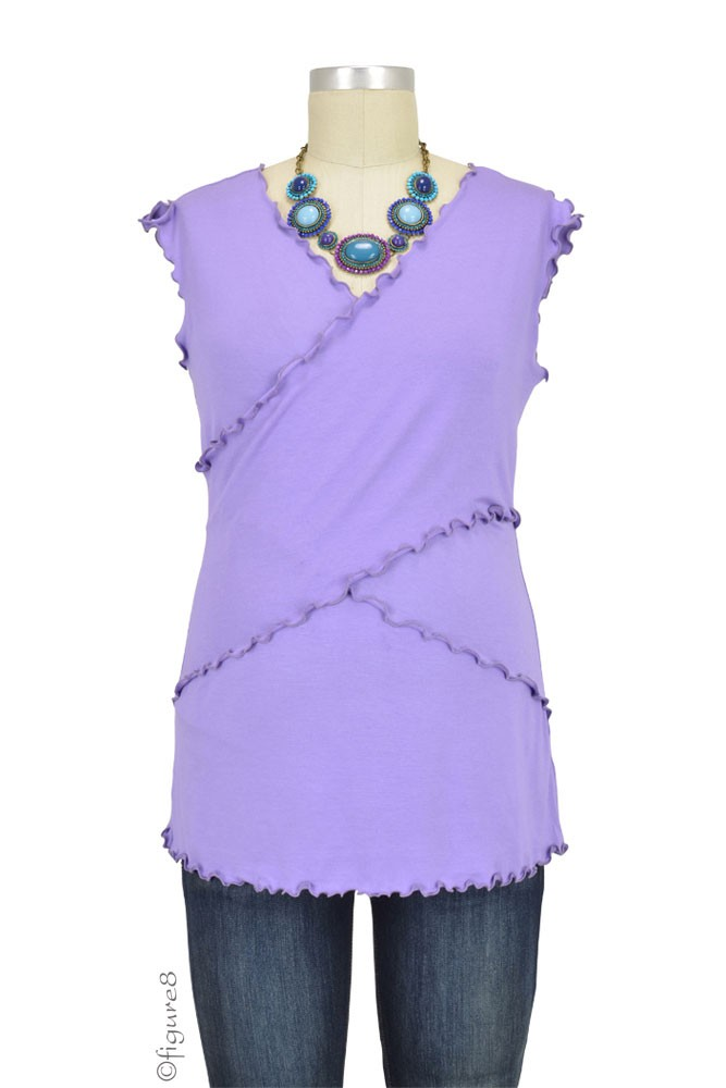 Flutter Cross Front Nursing Top (sleeveless) (Lilac)