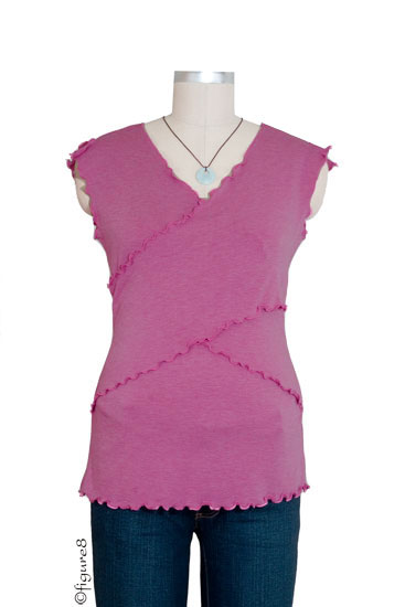 JW Flutter Cross Front Nursing Top (Sleeveless) (Mauve)