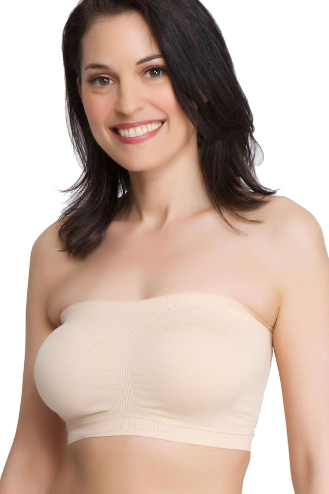 La Leche League Seamless Strapless Nursing Bra in White by La ...