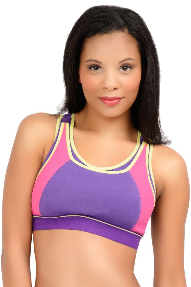 La Leche League Sports Nursing Bra In Purple By La Leche