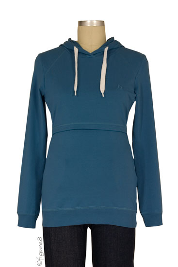 B-Warmer Knitted Nursing Hoodie (Cadet Blue)