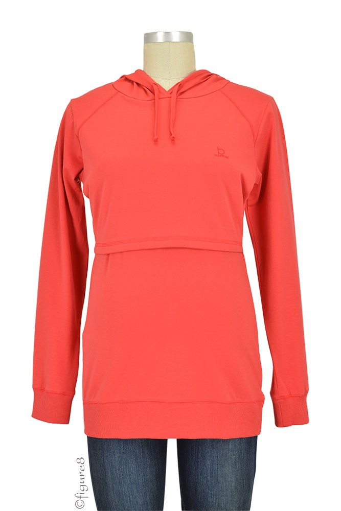 Boob Design B-Warmer Organic Knitted Nursing Hoodie (Red)