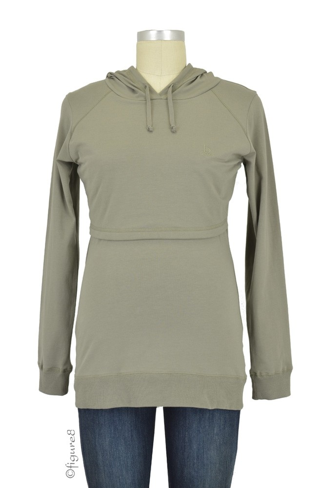 Boob B-Warmer Knitted Nursing Hoodie (Safari Green)