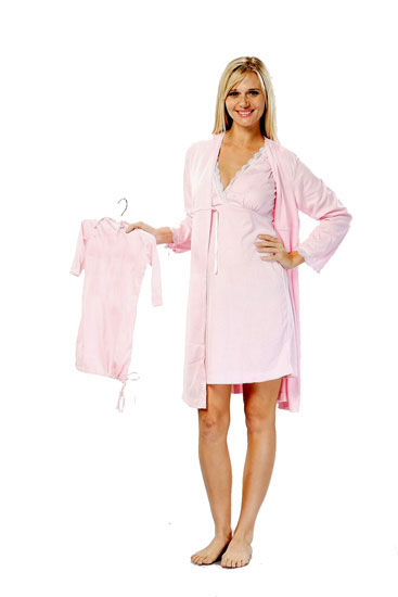 Take Me Home Mom & Baby Nursing 3-piece PJ Set (Pink)