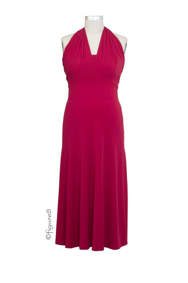 Pouch Versatile Maternity Dress (Red)