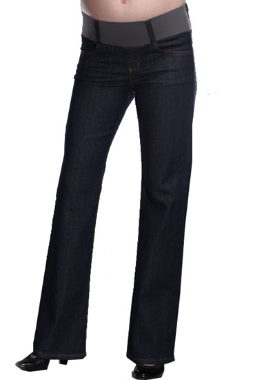 Maternal America 5-Pocket Straight-Leg Jean (Dark Blue)