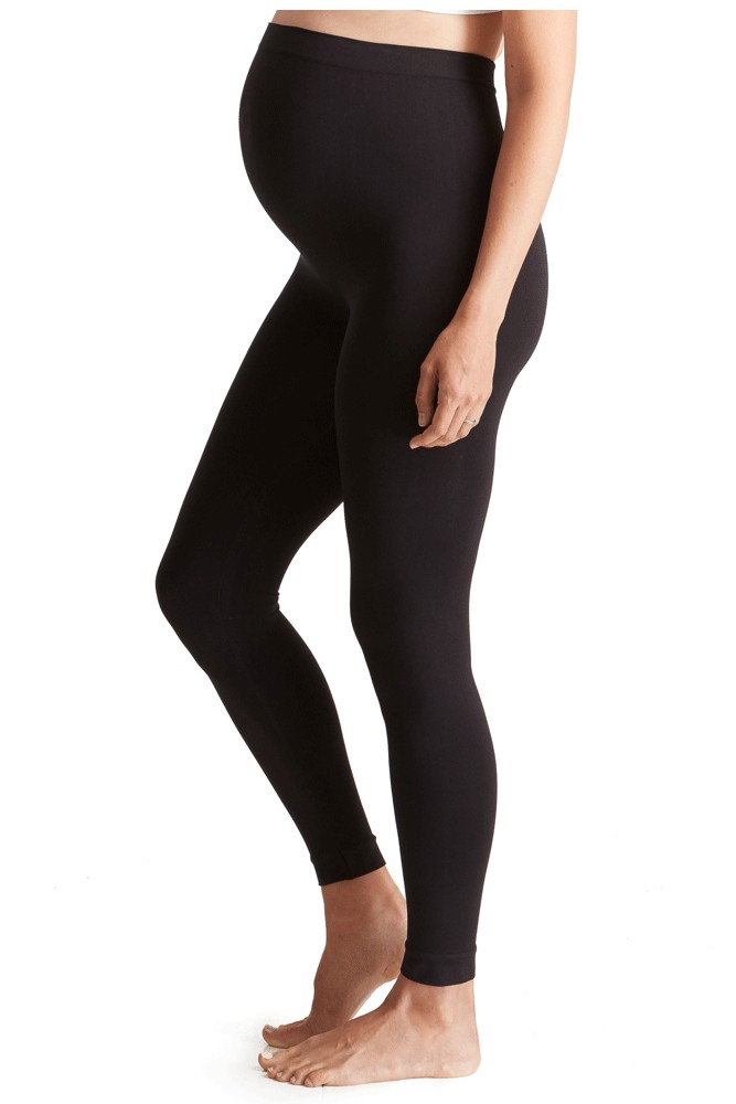 Ingrid & Isabel Seamless Maternity Belly Leggings (Black)