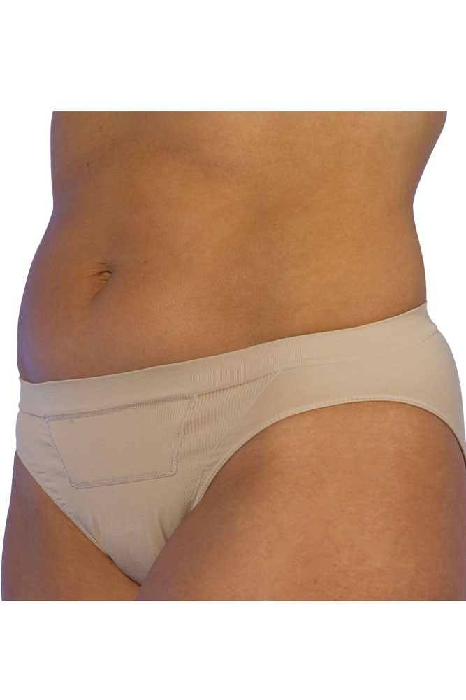 C-Panty Classic Waist C-Section Recovery Underwear - 2 Pack (Nude)