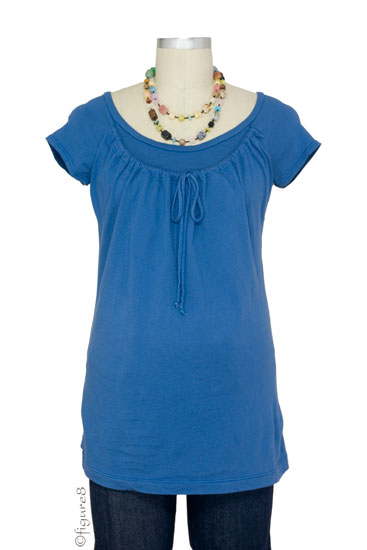 Japanese Weekend Organic D&A Nursing Top (Royal Blue)
