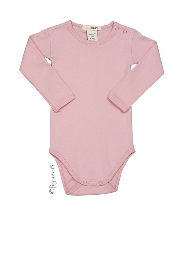 L'ovedbaby Long-Sleeve Baby Girl Bodysuit (Think Pink)