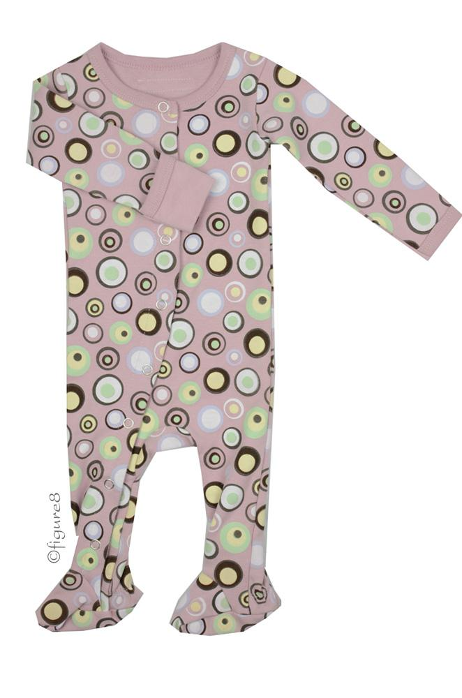 L'ovedbaby Gl'oved-Sleeve Baby Girl Overall (Warm Dots)