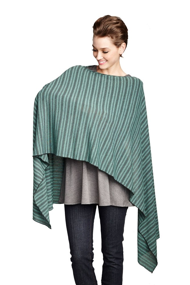 Madison Nursing Scarf (Fall & Winter Weight) (Mojito Stripes)