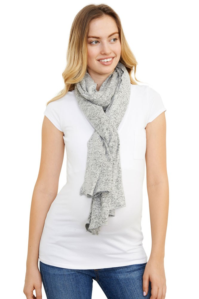 Madison Nursing Scarf (Fall & Winter Weight) (Grey Heather)