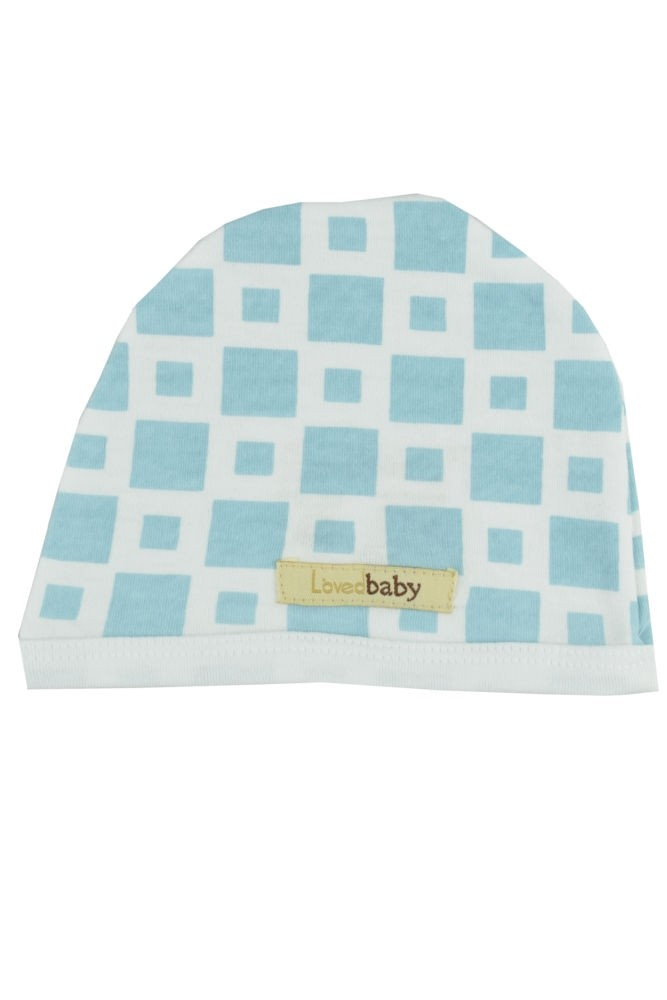 L'ovedbaby Cute Baby Boy Cap (Blue Tile)