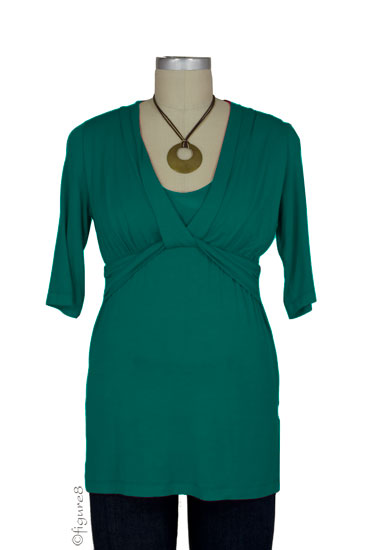 JW D&A Draped Neck Nursing Top (Jade)