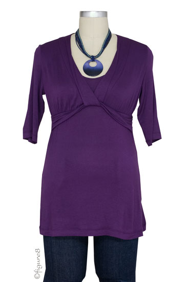 JW D&A Draped Neck Nursing Top (Eggplant)