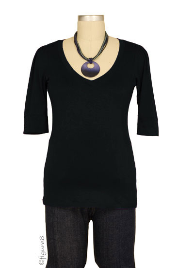The Michelle Nursing Top (Black)