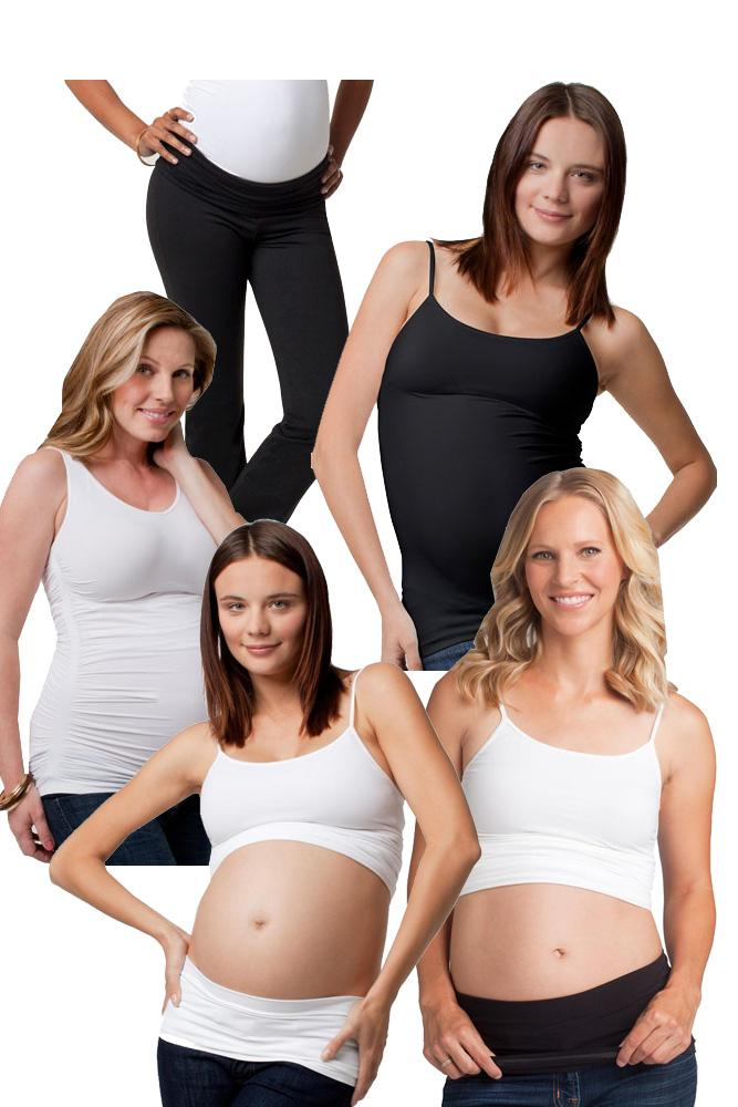 Ingrid & Isabel 5pc Maternity Essentials Kit (Black and White)