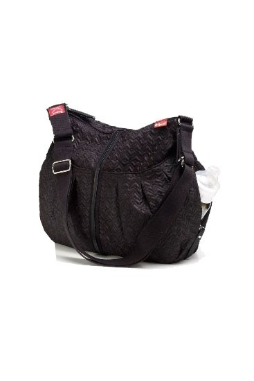Babymel Amanda Quilted Diaper Bag (Black with Fuchsia Lining)