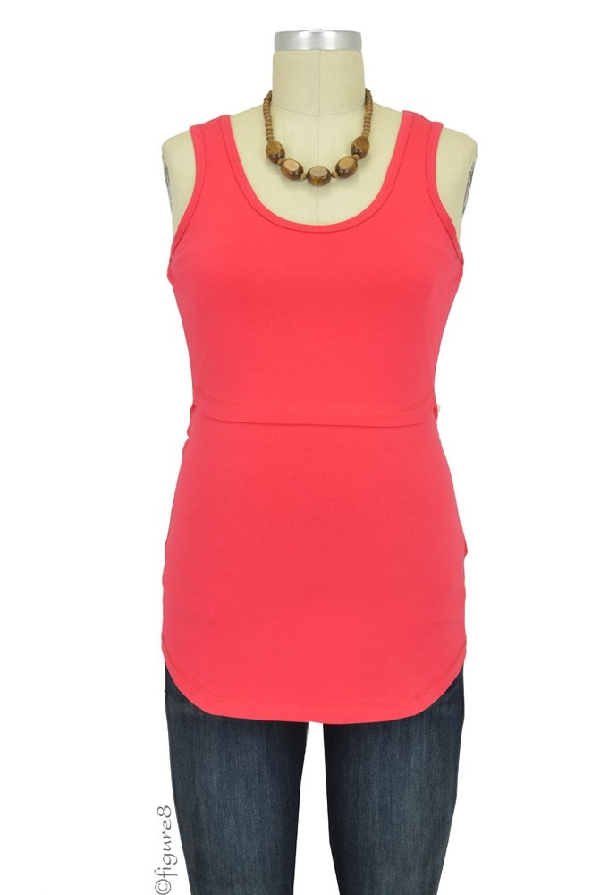Boob Organic Singlet Nursing Top (Red)