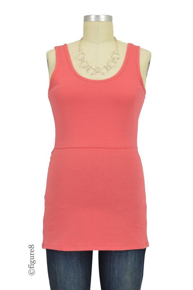 Boob Design Classic Organic Maternity & Nursing Tank Top (Faded Rose)