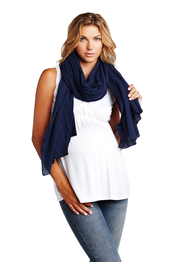 Madison Nursing Scarf (Summer Weight) (Navy)