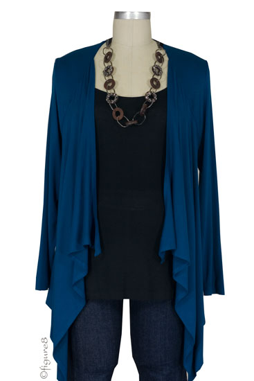 JW D&A Nursing One-Piece Cardigan and Shell (Teal)