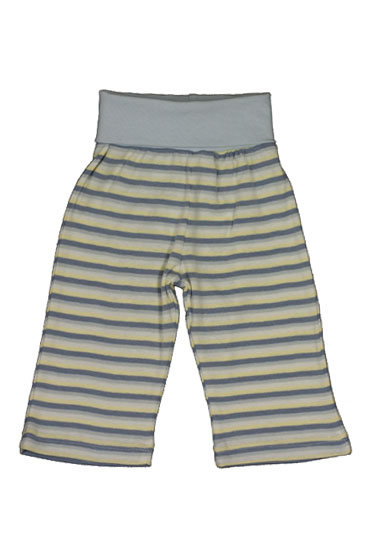 Under the Nile Rolled Waist Organic Baby Boy Pant (Blue Stripes)