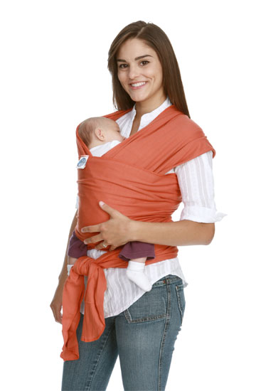 Orange Moby Wrap Baby Carrier