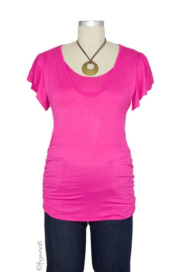 JW Kimberly Flutter Sleeve Nursing Top (Pink)