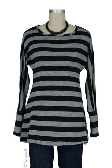Jules & Jim A-line Maternity Sweater (Black/Grey)
