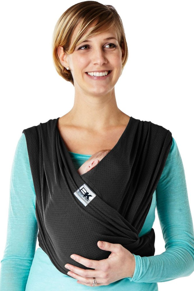 32882dcc47f Baby K tan Breeze Baby Carrier in Black with Mesh
