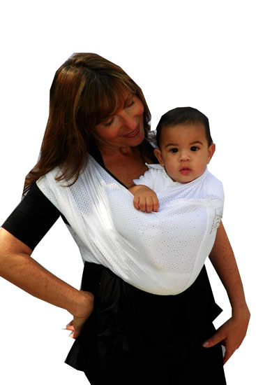 Baby K'tan Breeze Baby Carrier (White with Mesh)