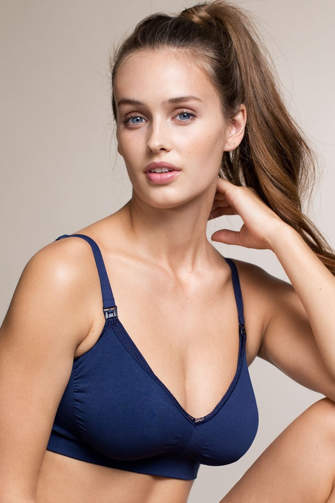 Boob Design Fast Food Nursing Bra (Navy)