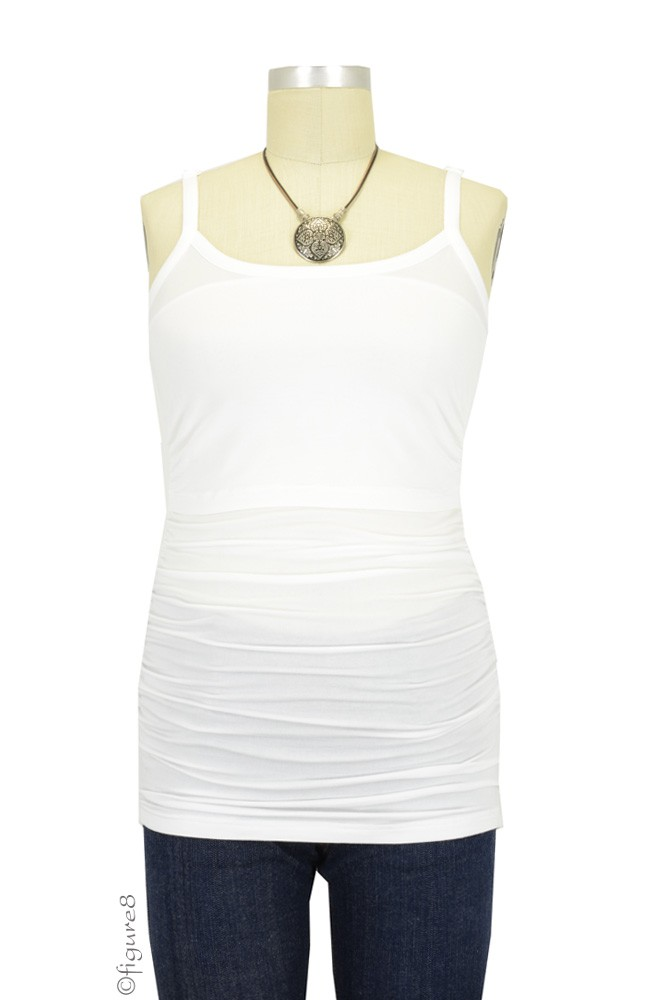 Boob Before & After Nursing Singlet (White)