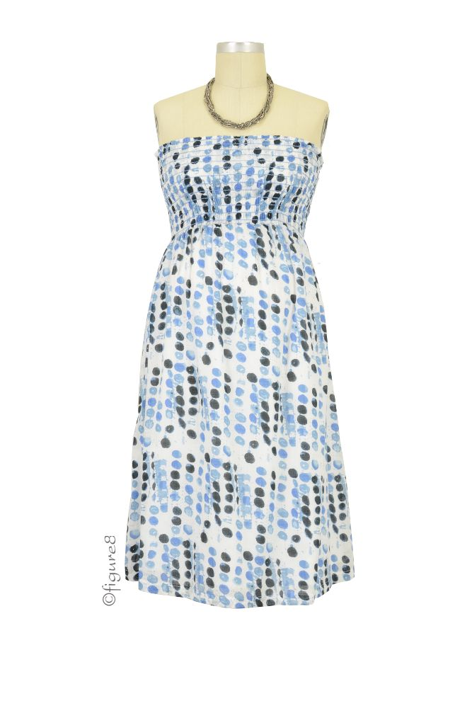 Jules & Jim Nikki Tube Maternity Dress (Blue Dots)